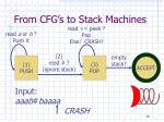 from cfg s to stack machines21