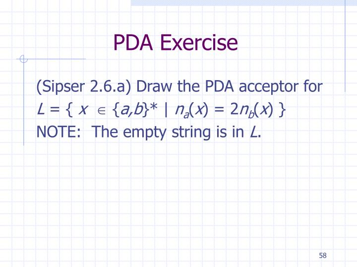 PDA Exercise