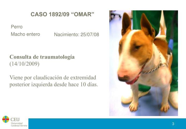 """CASO 1892/09 """"OMAR"""""""