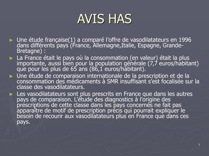 AVIS HAS