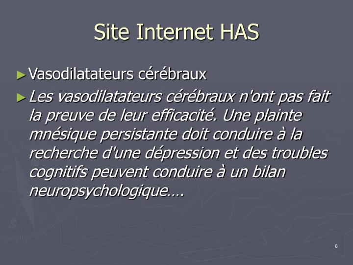 Site Internet HAS