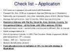 check list application
