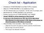 check list application1