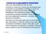etapas do planejamento financeiro5