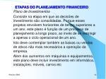etapas do planejamento financeiro6
