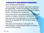 etapas do planejamento financeiro7