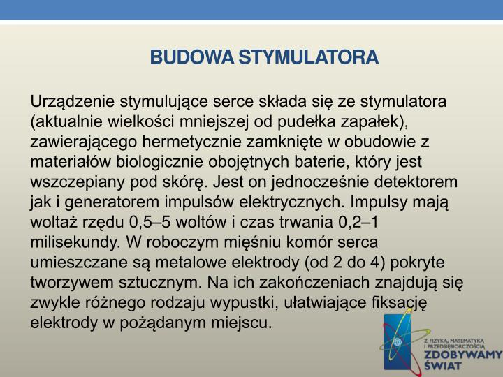 Budowa stymulatora