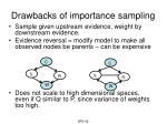 drawbacks of importance sampling
