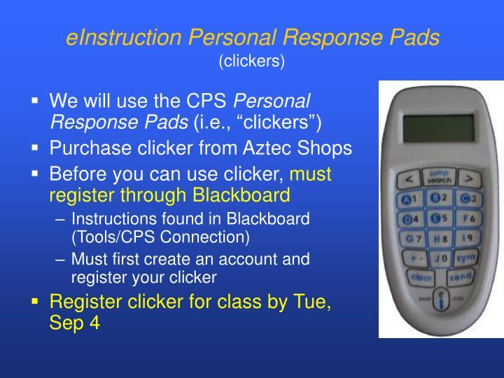 eInstruction Personal Response Pads