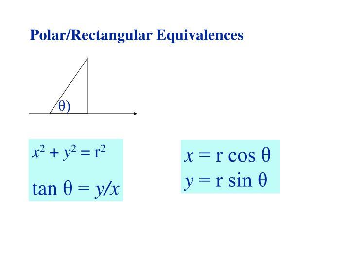 Polar/Rectangular Equivalences