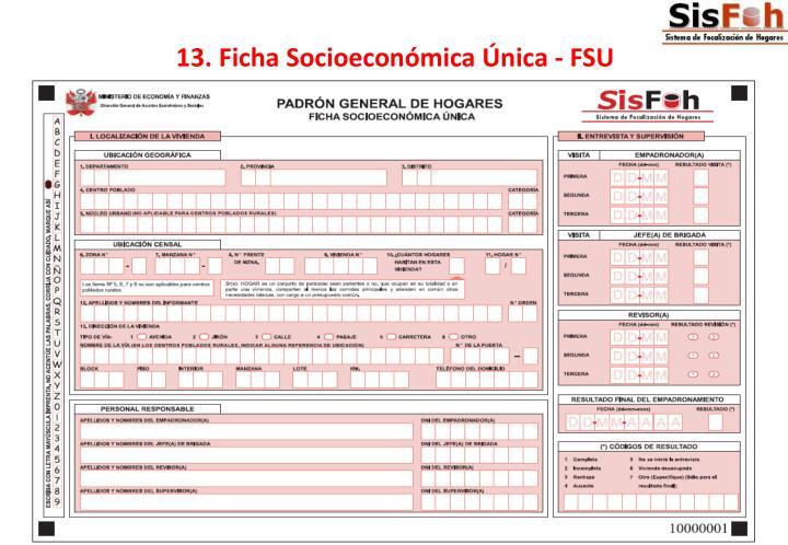 13. Ficha Socioeconómica Única - FSU