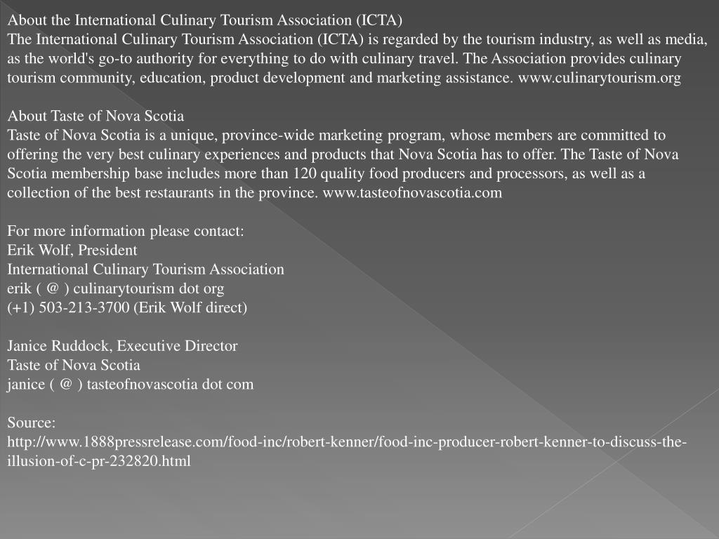 About the International Culinary Tourism Association (ICTA)