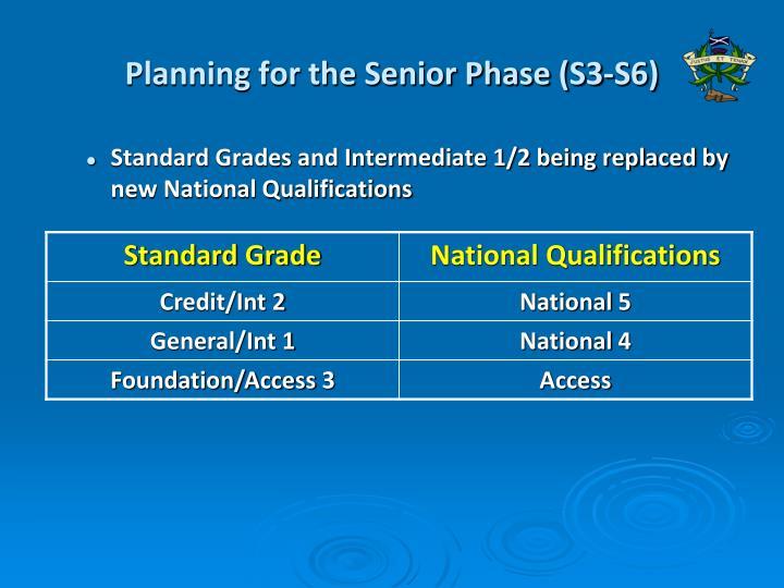 Planning for the Senior Phase (S3-S6)