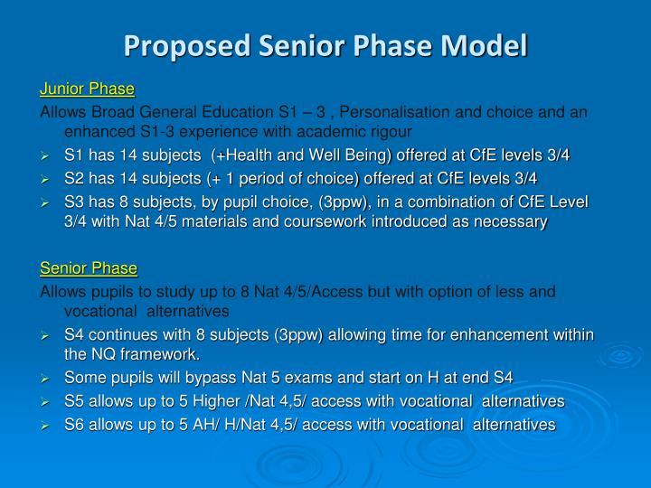 Proposed Senior