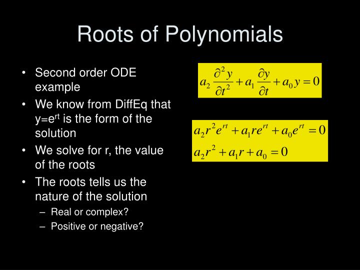 Roots of Polynomials