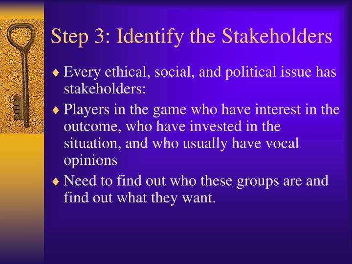 Step 3: Identify the Stakeholders