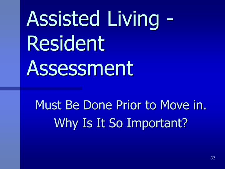 Assisted Living -Resident
