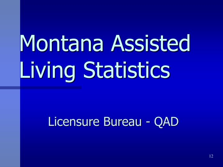 Montana Assisted Living Statistics