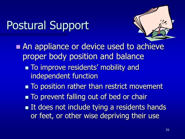 Postural Support