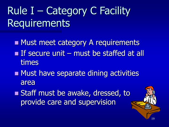 Rule I – Category C Facility Requirements