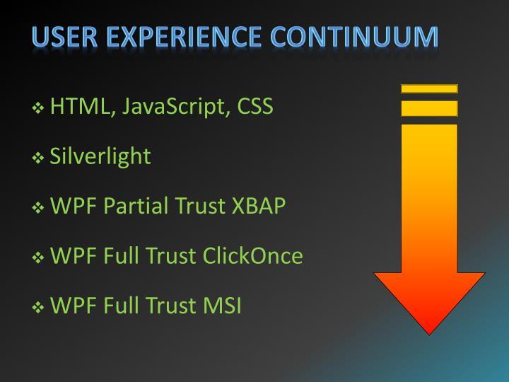 User Experience Continuum