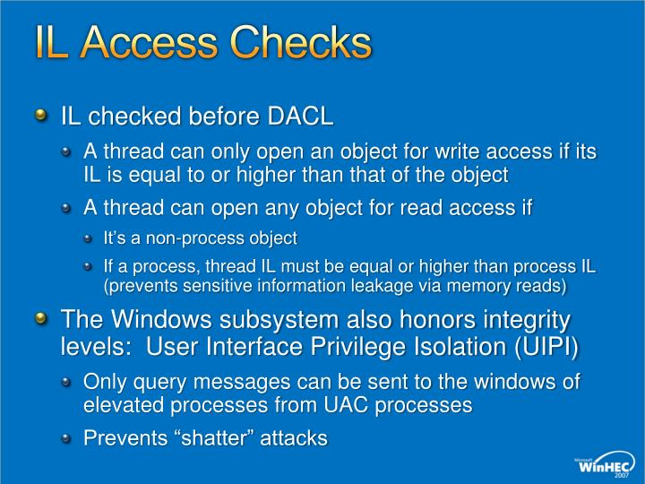 IL Access Checks