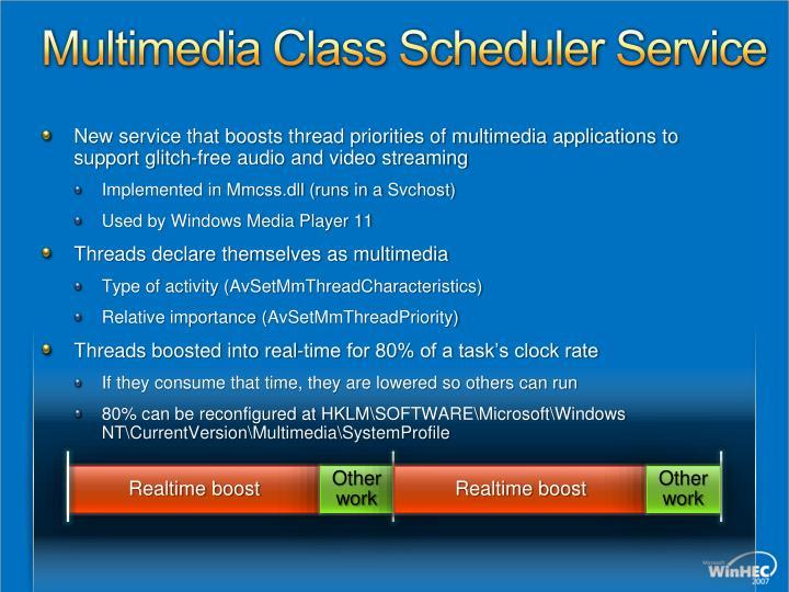 Multimedia Class Scheduler Service