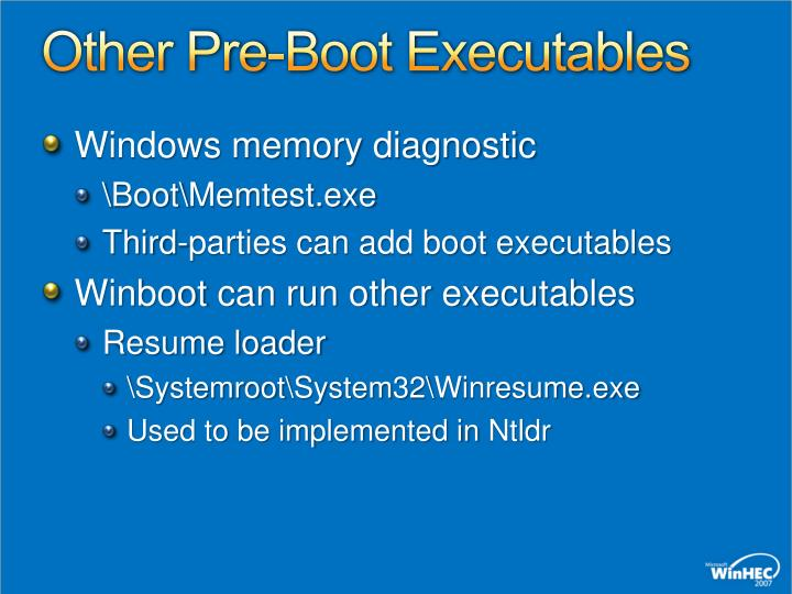 Other Pre-Boot Executables