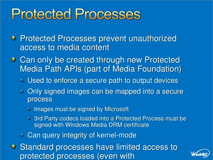 Protected Processes