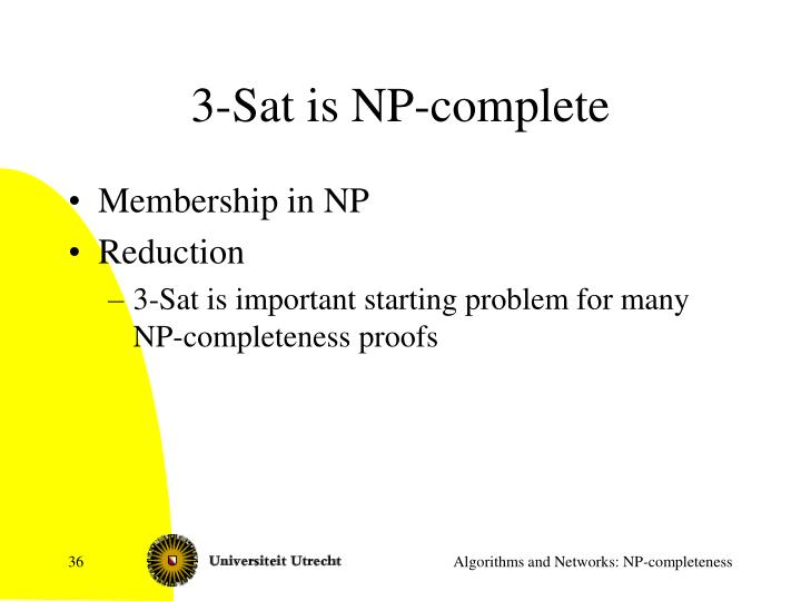 3-Sat is NP-complete