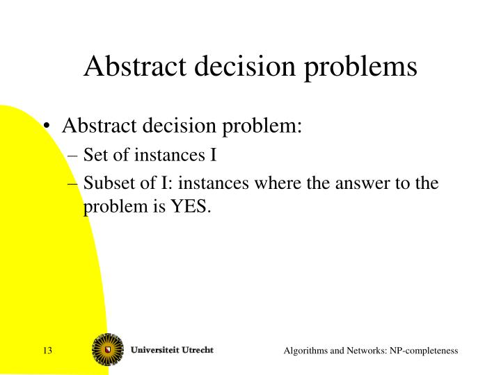 Abstract decision problems