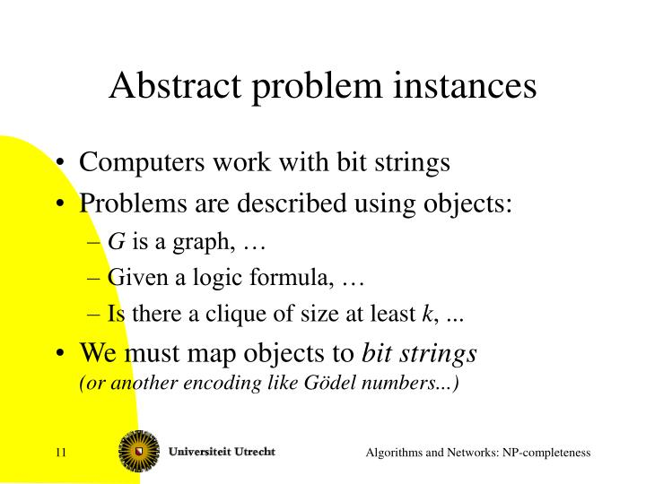 Abstract problem instances