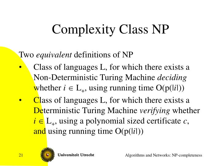 Complexity Class NP