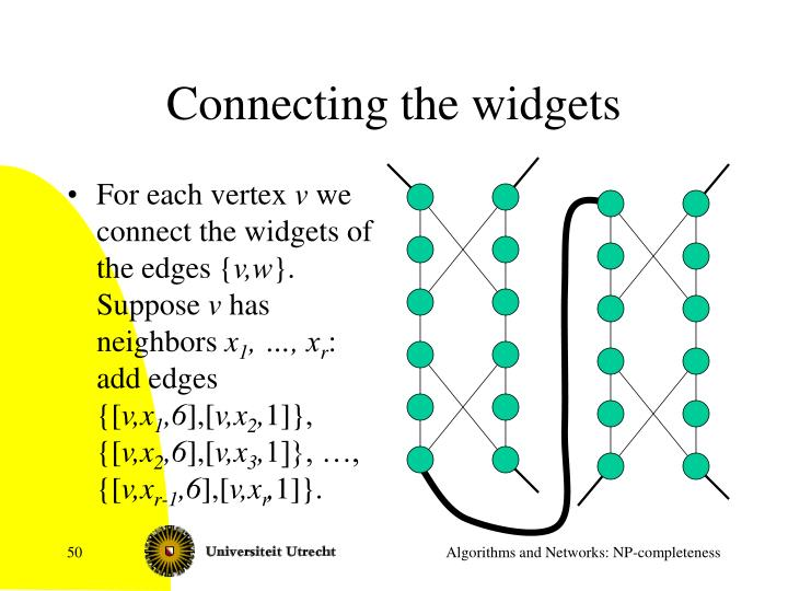Connecting the widgets