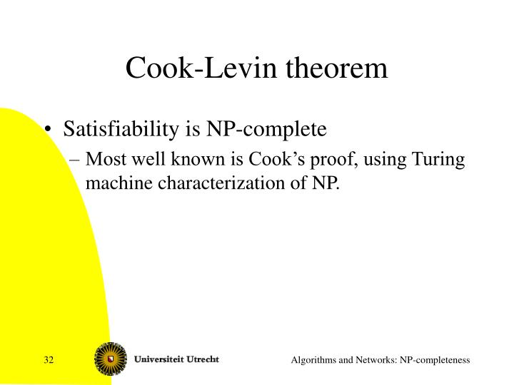 Cook-Levin theorem
