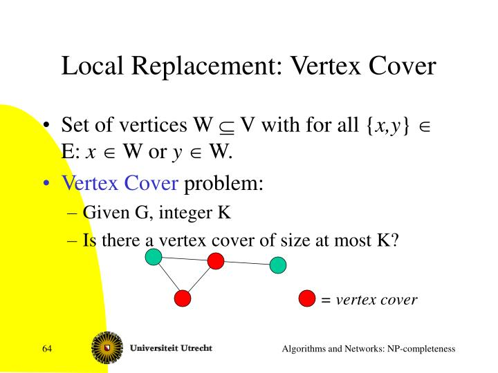 Local Replacement: Vertex Cover