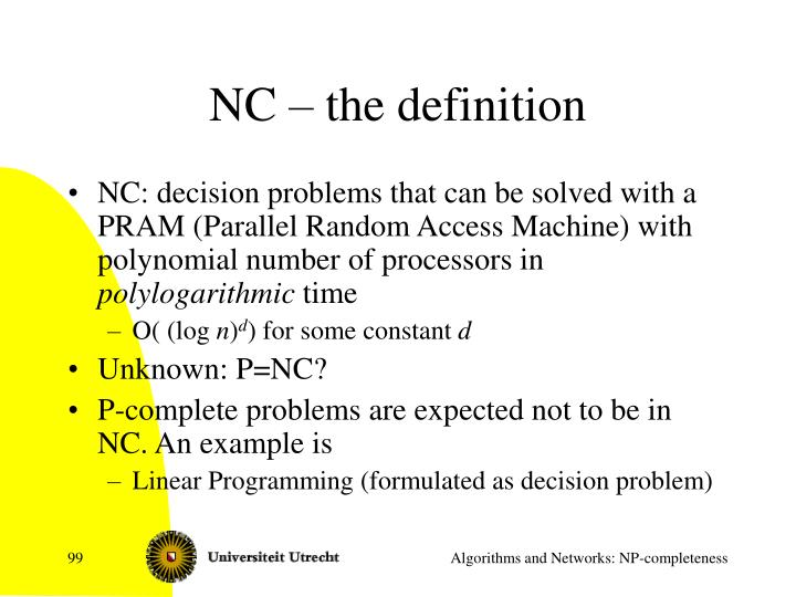 NC – the definition