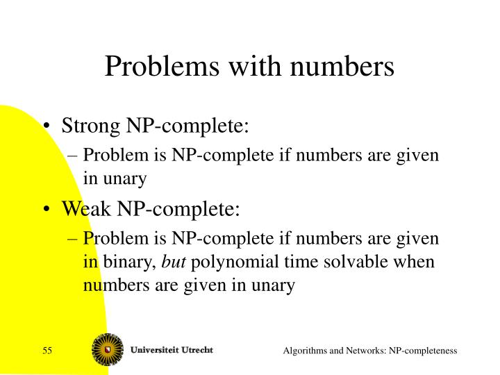 Problems with numbers