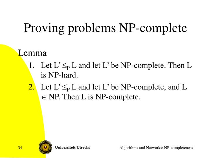 Proving problems NP-complete