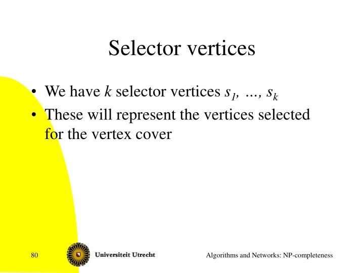 Selector vertices