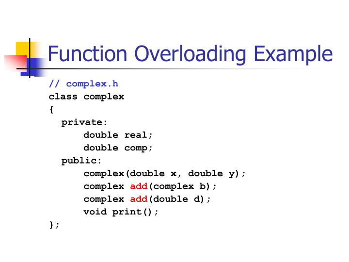 Function Overloading Example