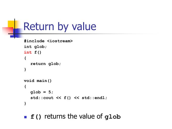 Return by value