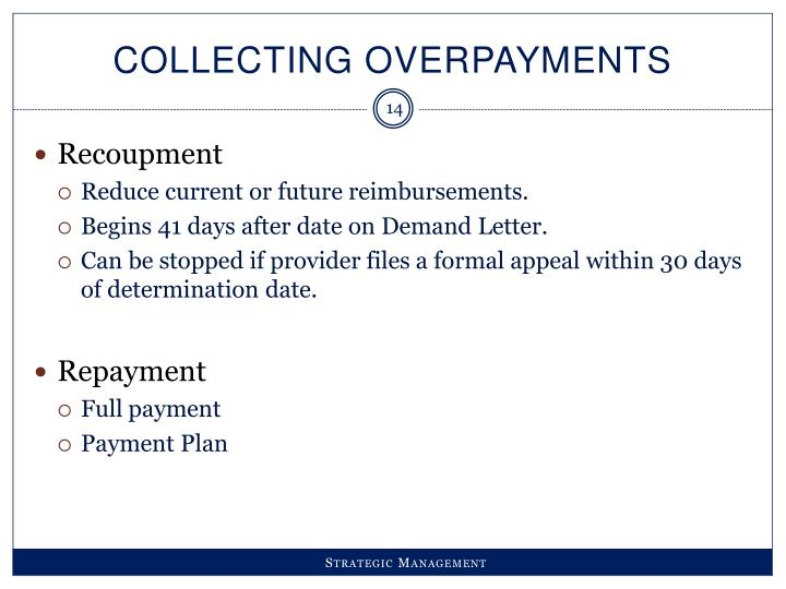 Collecting Overpayments