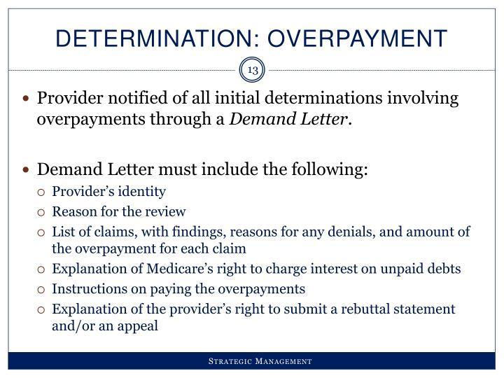 Determination: Overpayment