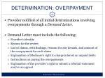 determination overpayment