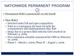 nationwide permanent program