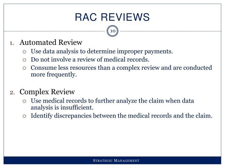 RAC Reviews