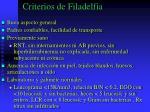 criterios de filadelfia