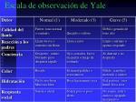 escala de observaci n de yale