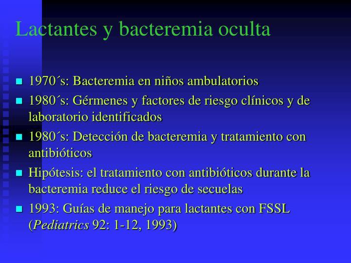 Lactantes y bacteremia oculta